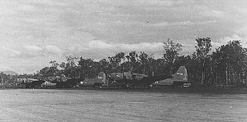 Picture of B17 bombers on air-strip in the Pacific