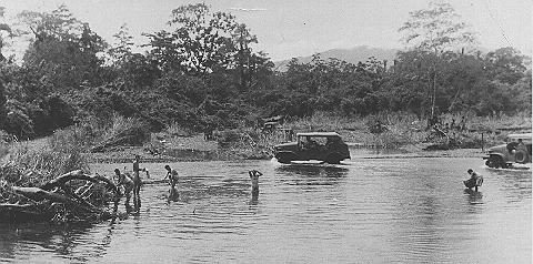 WWII picture of soldiers in Fall River, New Guinea